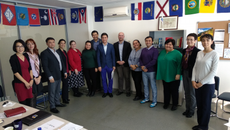 Staff at the American Councils office in Tashkent, Uzbekistan.